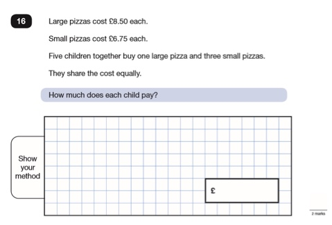 Division word problems year 6 sats